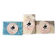 Мыло ручной работы серии Страусиный лекарь (Лаванда, Чайное дерево, Глина Мёртвого моря)  *50 %   100 гр